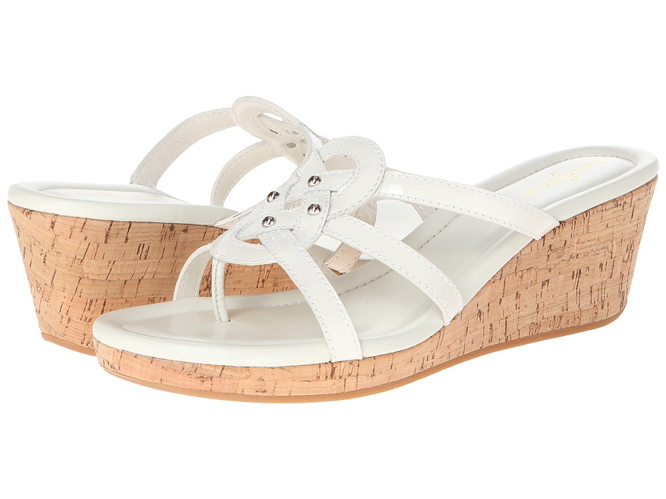 Cole Haan - Shayla Thong (Ivory Patent) Women's Wedge Shoes