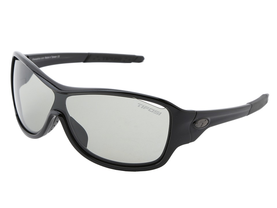 Tifosi Optics - Rumor Fototec - Smoke (Gloss Black/Smoke Fototec Lens) Athletic Performance Sport Sunglasses