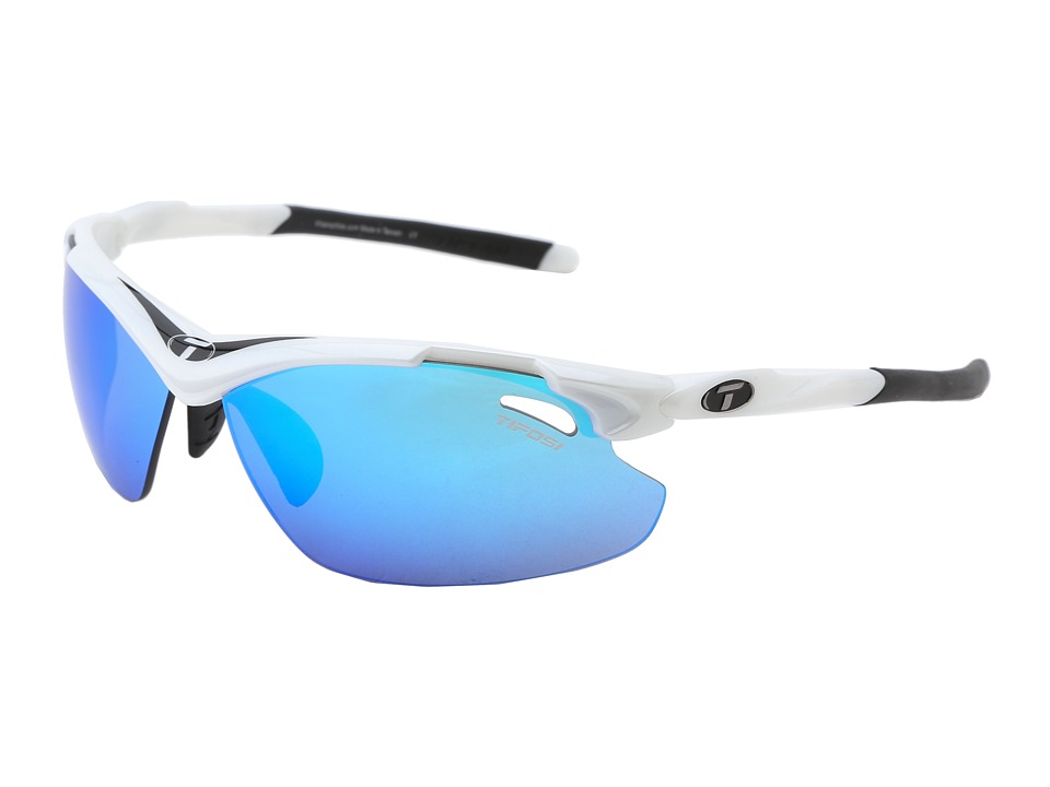 Tifosi Optics - Tyranttm 2.0 Mirrored All Sport Interchangeable (White/Black/Clarion Blue/GT/EC Lens) Athletic Performance Sport Sunglasses