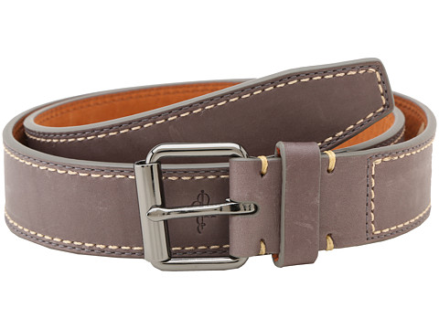 Cole Haan - Slim Roller Belt (Dark Gull Gray) Men