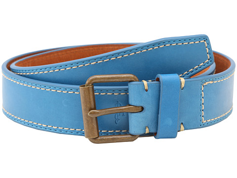 Cole Haan - Slim Roller Belt (Blue) Men's Belts