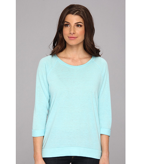 C&C California - Solid Triblend Raglan Sweatshirt (Mist Blue) Women's Sweatshirt