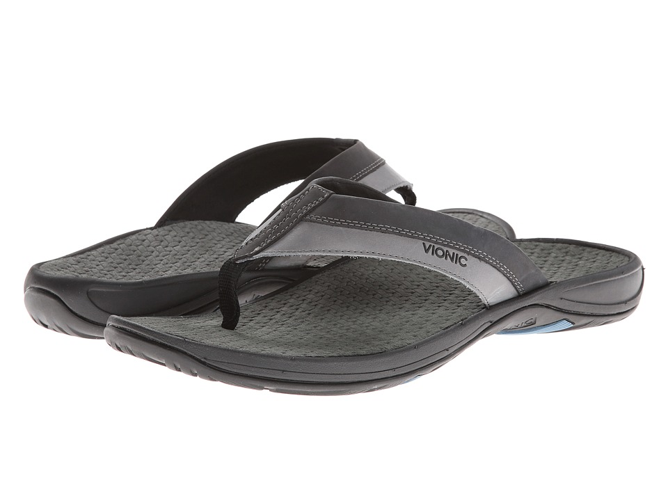 VIONIC - Joel (Black/Charcoal) Men's Sandals