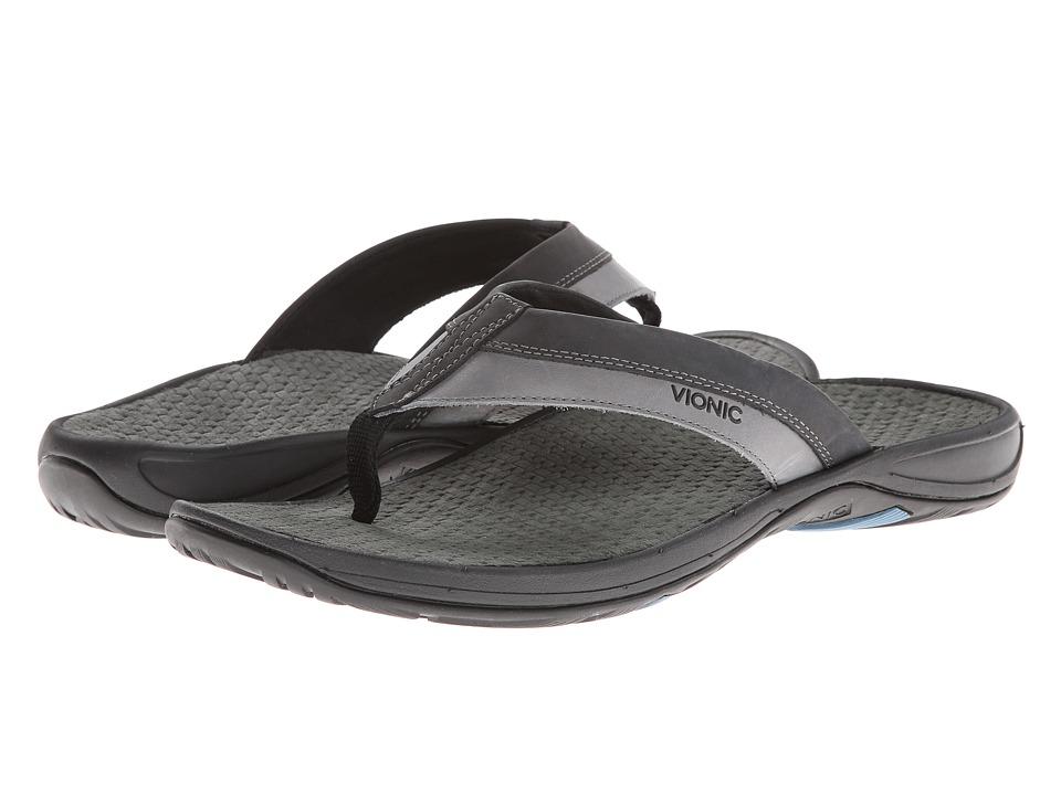 VIONIC - Joel (Black/Charcoal) Men's Sandals