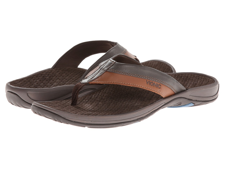 VIONIC - Joel (Chocolate/Tan) Men's Sandals