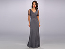 Adrianna Papell Mermaid Gown w/ Bead (Smoke)