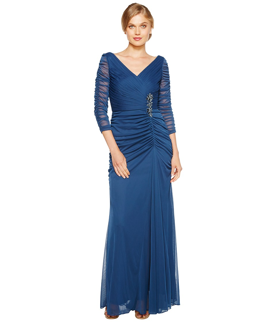 Adrianna Papell - Drape Covered Gown (Twilight) Women's Dress