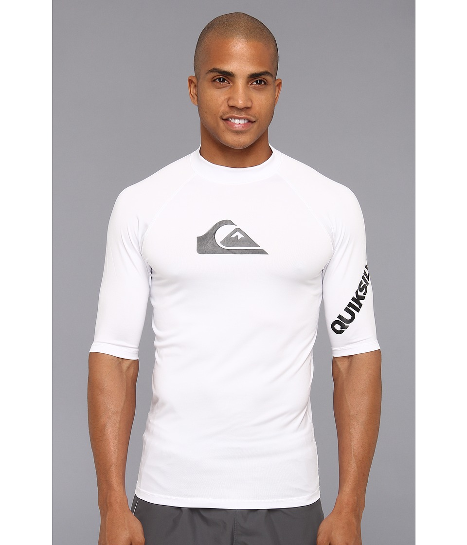 Quiksilver All Time S/S Surf Shirt AQYWR00034 Mens Swimwear (White)