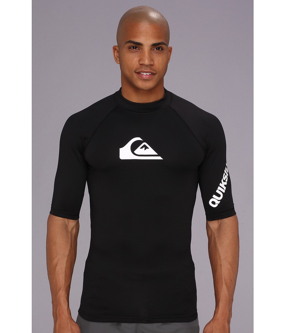 Quiksilver All Time S/S Surf Shirt AQYWR00034 Mens Swimwear (Black)