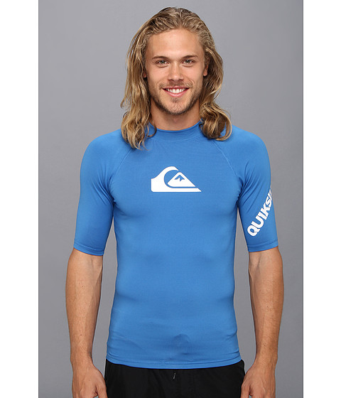 Quiksilver - All Time S/S Surf Shirt AQYWR00034 (Blue) Men's Swimwear