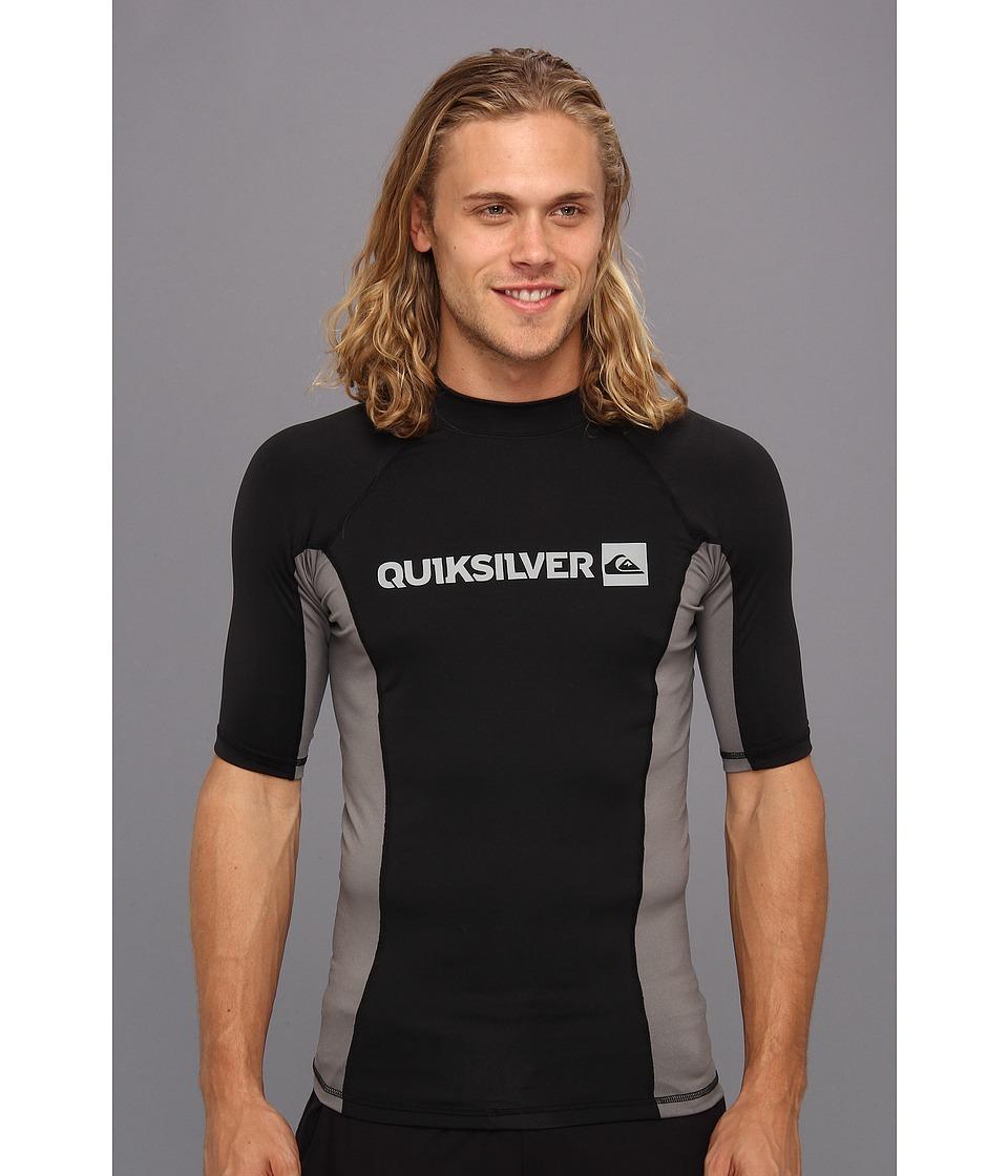 Quiksilver Prime S/S Surf Shirt Mens Swimwear (Black)
