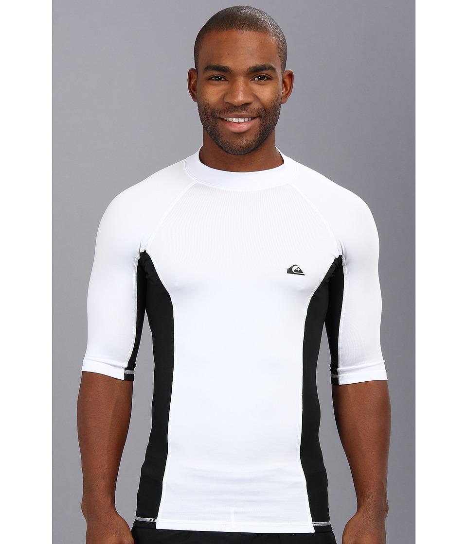 Quiksilver Basix S/S Surf Shirt Mens Swimwear (White)