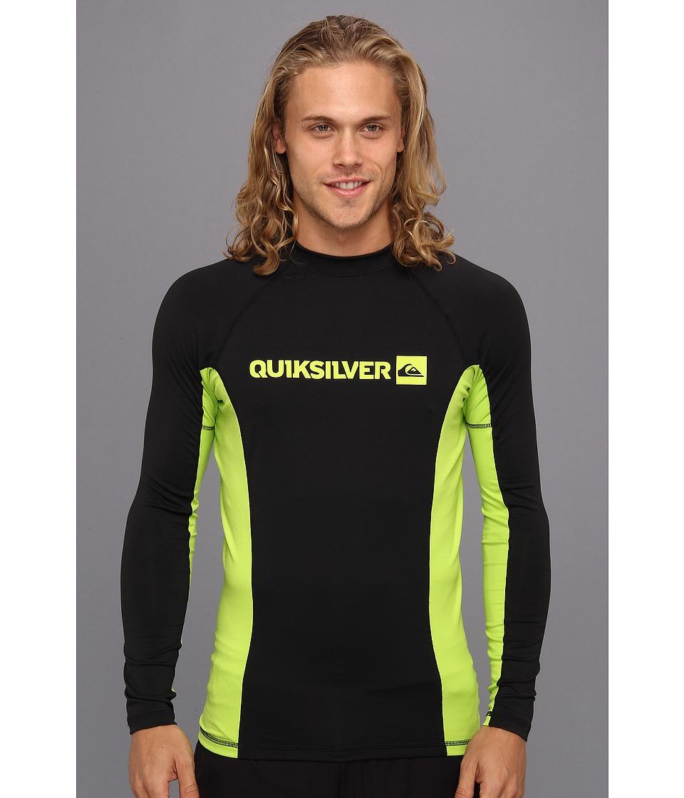 Quiksilver Prime L/S Surf Shirt Mens Swimwear (Black)