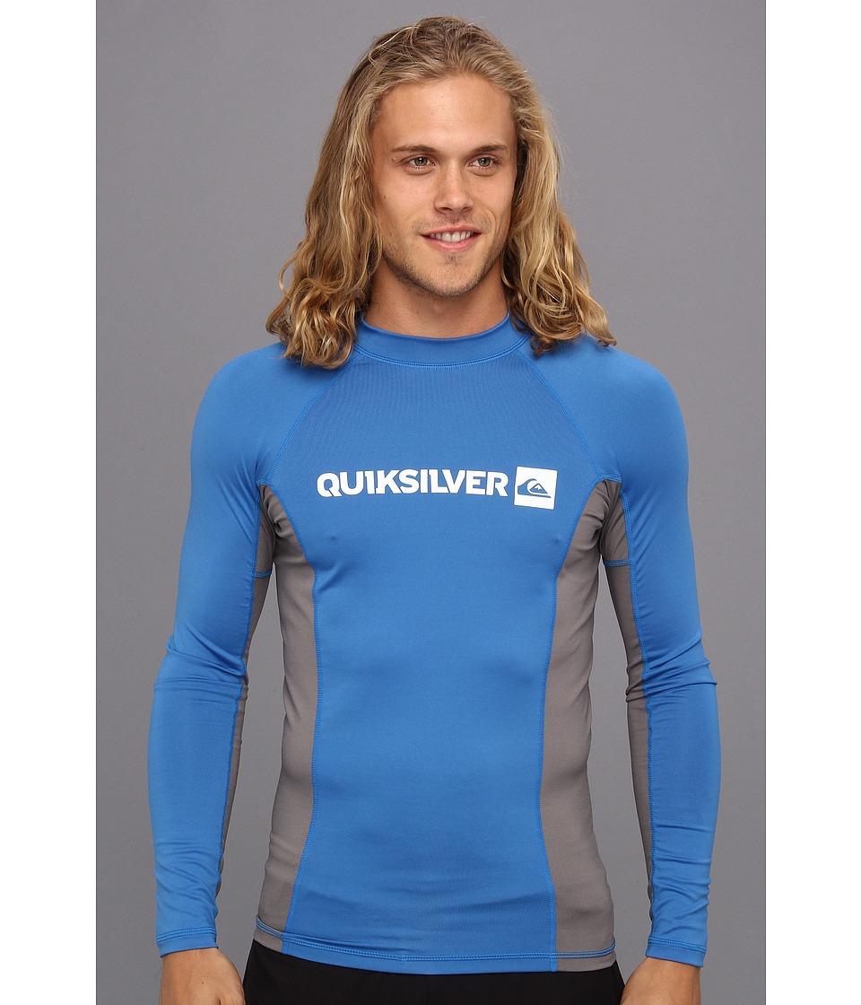 Quiksilver Prime L/S Surf Shirt Mens Swimwear (Blue)