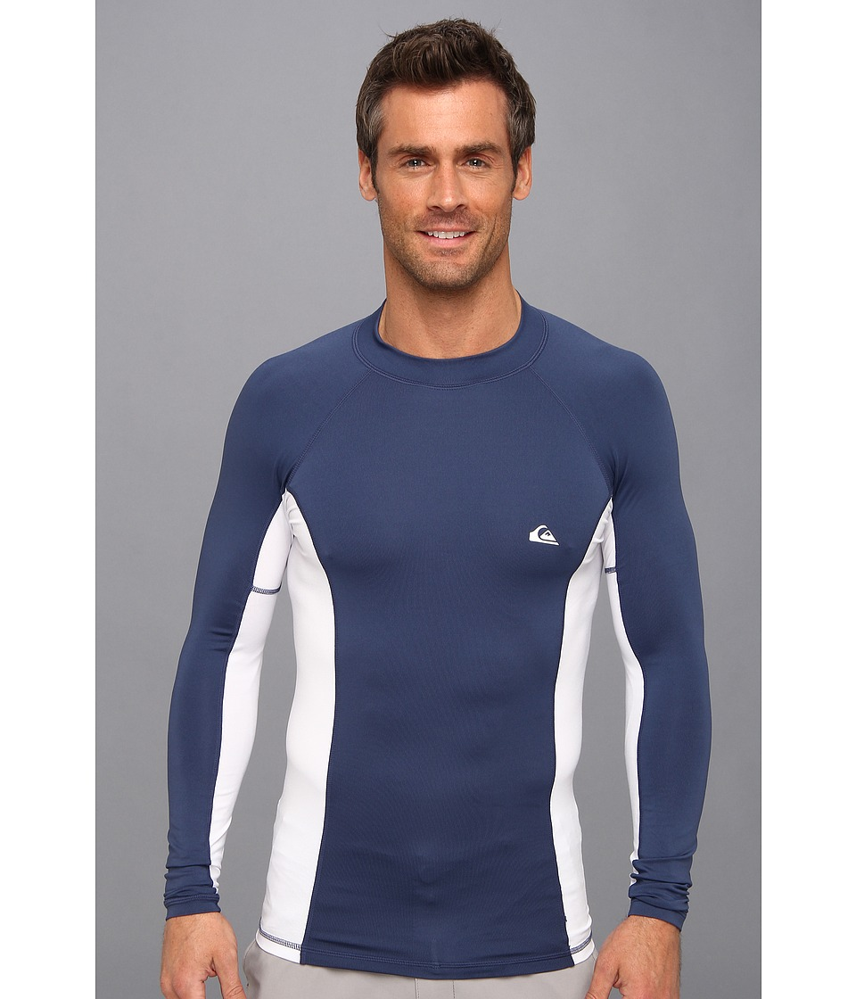 Quiksilver Basix L/S Surf Shirt Mens Swimwear (Blue)