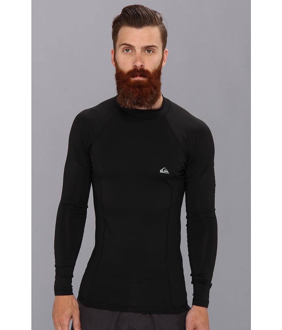 Quiksilver Basix L/S Surf Shirt Mens Swimwear (Black)