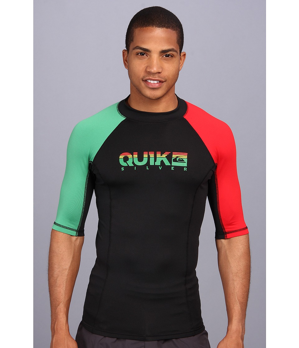 Quiksilver Extra S/S Surf Shirt Mens Swimwear (Multi)