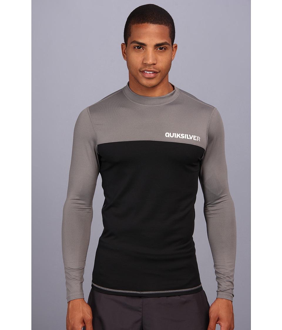 Quiksilver Chop Block L/S Surf Shirt Mens Swimwear (Black)