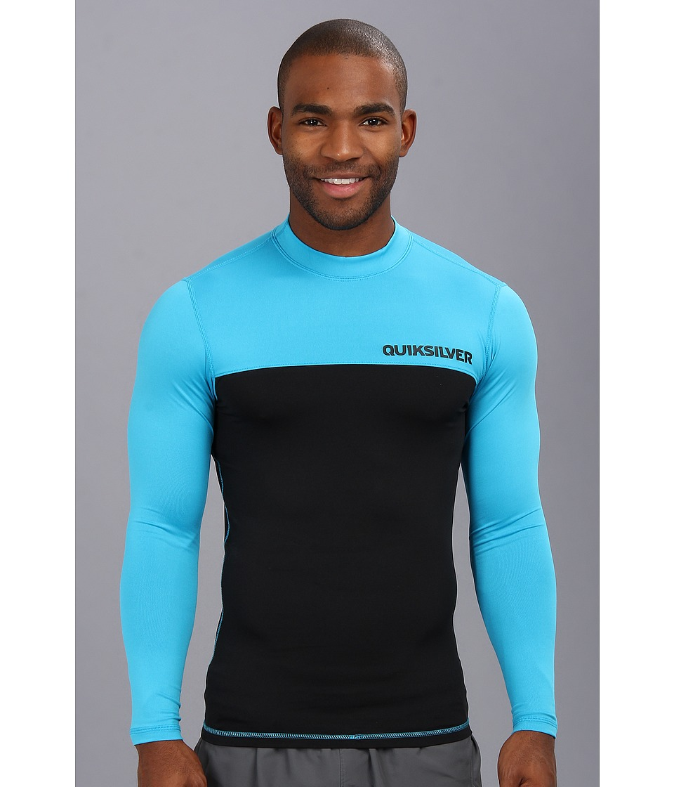 Quiksilver Chop Block L/S Surf Shirt Mens Swimwear (Blue)