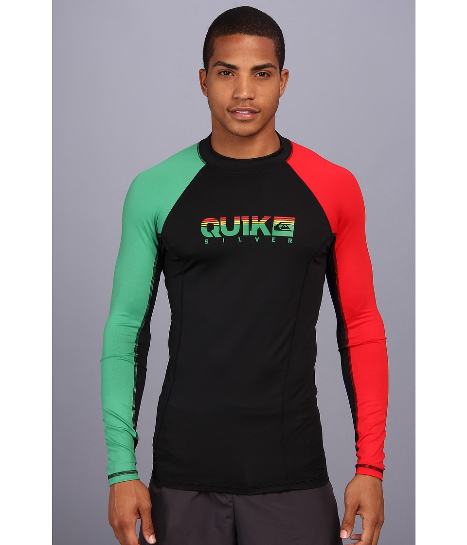 Quiksilver Extra L/S Surf Shirt Mens Swimwear (Multi)