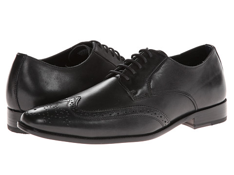 VIONIC with Orthaheel Technology - Harrison (Black) Men's Lace Up Wing Tip Shoes