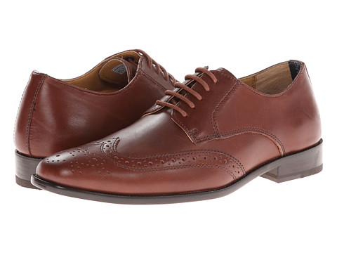 VIONIC with Orthaheel Technology - Harrison (Brown) Men's Lace Up Wing Tip Shoes