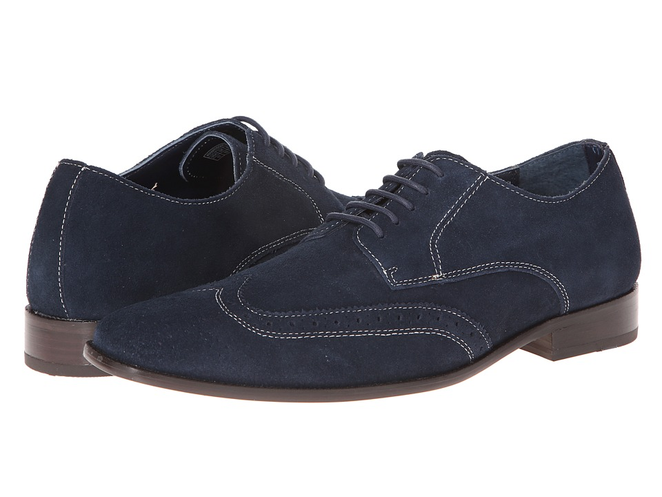 VIONIC - Harrison (Navy) Men's Lace Up Wing Tip Shoes