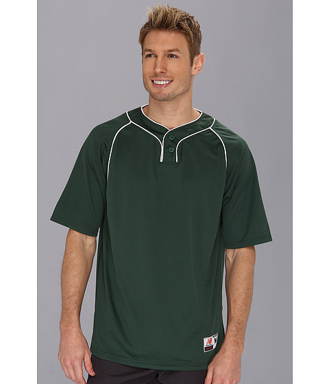 New Balance - Two Button Jersey (Team Dark Green) Men