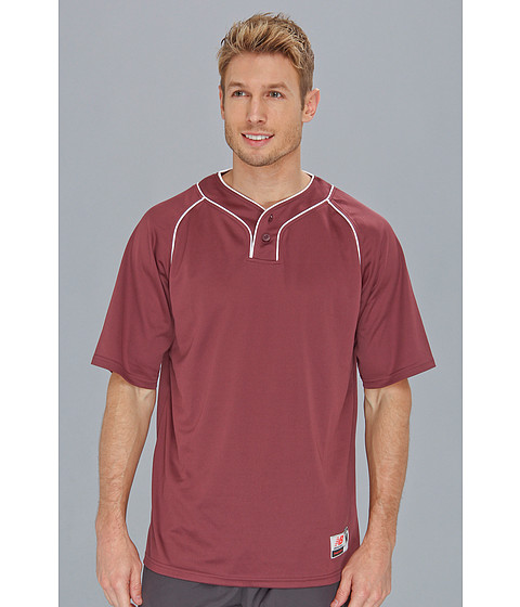 New Balance - Two Button Jersey (Team Maroon) Men