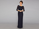 Adrianna Papell Long Sleeve Lace Gown