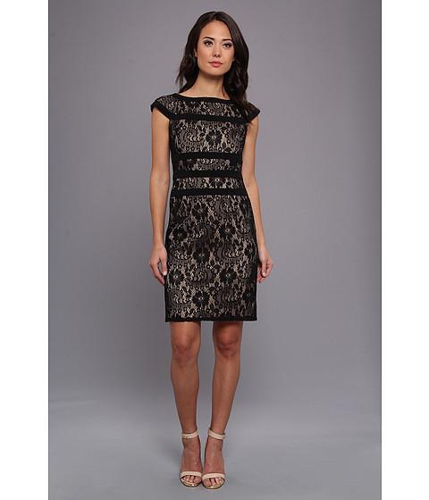 Adrianna Papell - Lace Sheath Dress (Black) Women