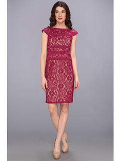 SALE! $64.99 - Save $53 on Adrianna Papell Lace Sheath Dress (Raspberry) Apparel - 44.92% OFF $118.00