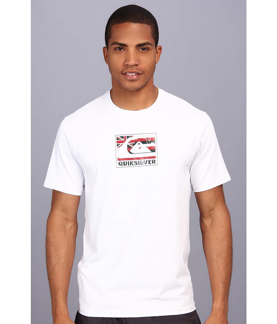 Quiksilver Pride S/S Surf Shirt Mens Swimwear (White)
