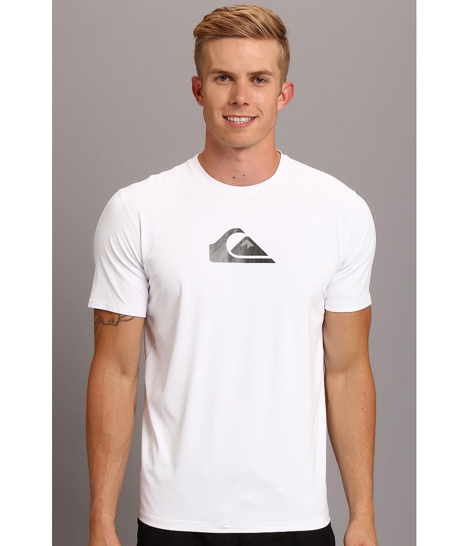 Quiksilver - Solid Streak S/S Surfshirt (Whie) Men's Swimwear