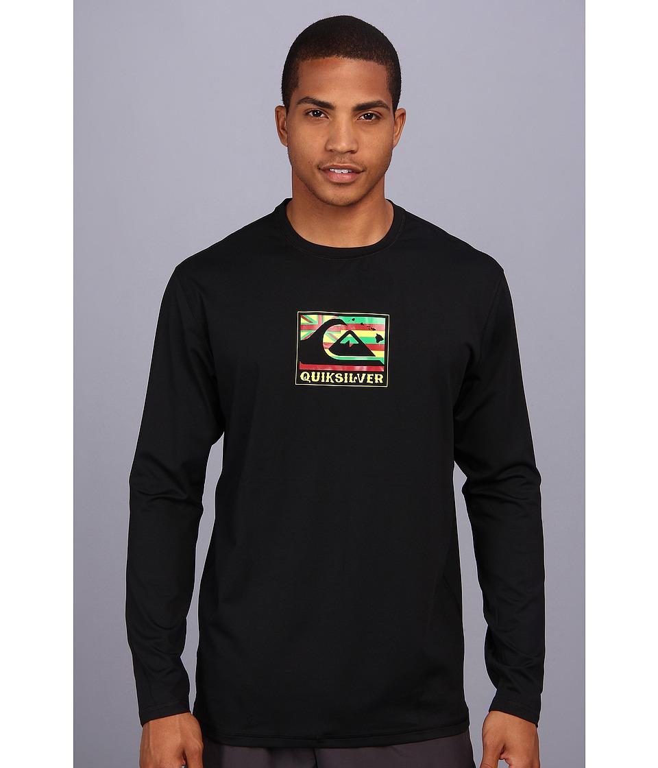 Quiksilver Pride L/S Surf Shirt Mens Swimwear (Black)