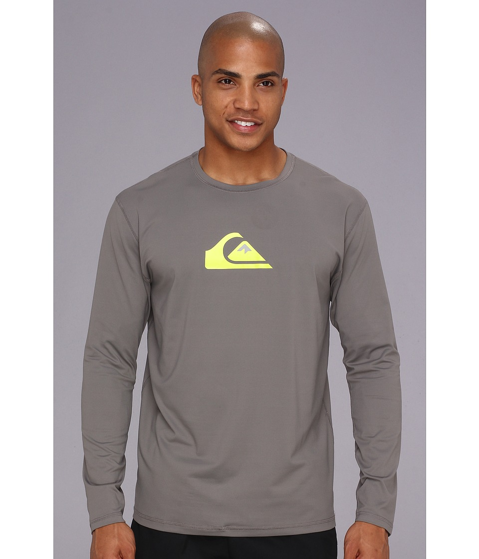 Quiksilver - Solid Streak L/S Surf Shirt AQYWR00046 (Metal) Men's Swimwear