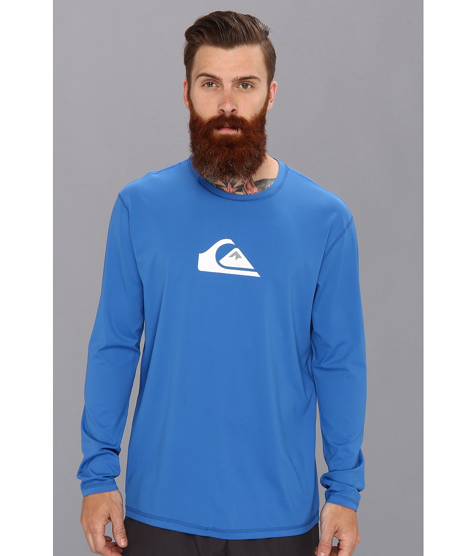 Quiksilver - Solid Streak L/S Surf Shirt AQYWR00046 (Blue) Men's Swimwear