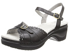 Sanita Dawn Leather Sandal (Black/Black)