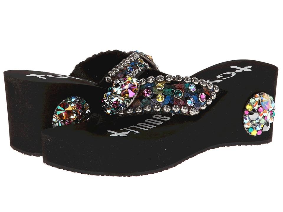 Gypsy SOULE - Carnival Heel (Black) Women's Wedge Shoes
