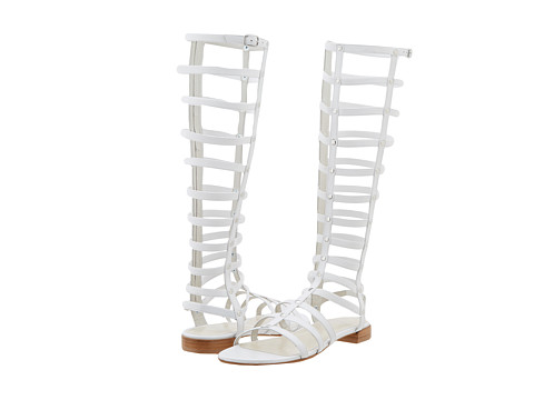 Stuart Weitzman - Gladiator (White Nappa) Women's Sandals