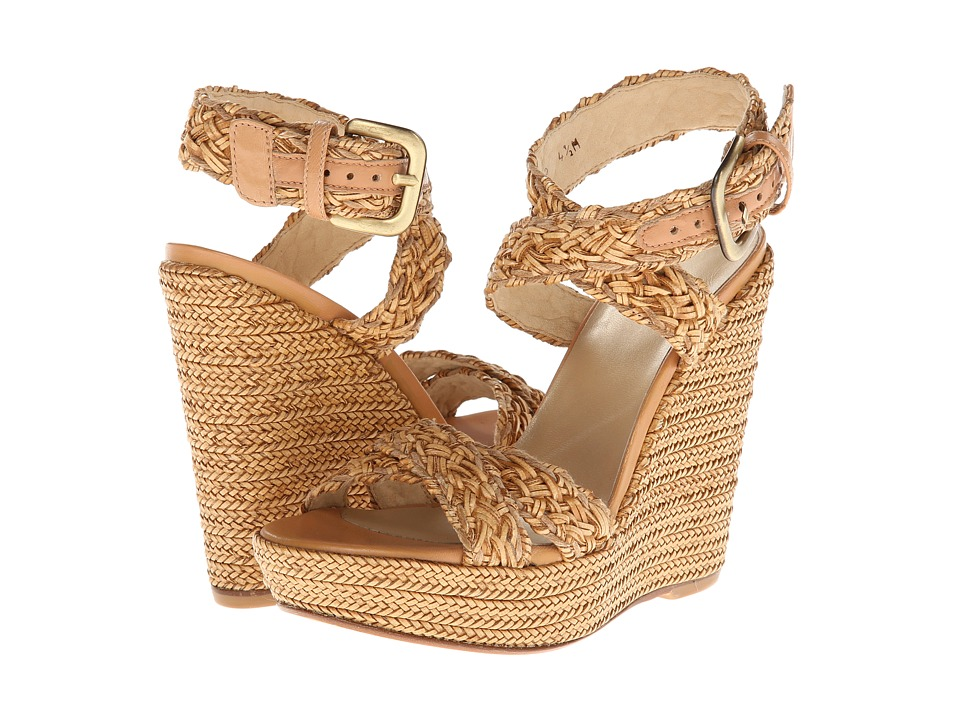 Stuart Weitzman - Hoopla (Camel Weavex) Women's Wedge Shoes