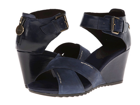 Geox - D Alias (Navy) Women's Wedge Shoes