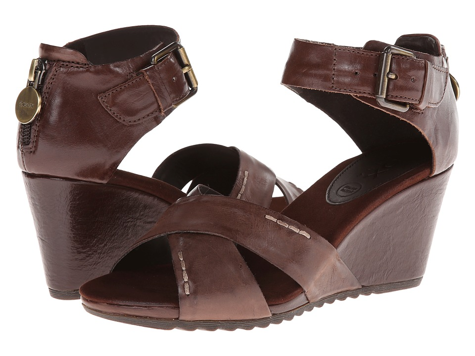 Geox - D Alias (Coffee) Women's Wedge Shoes