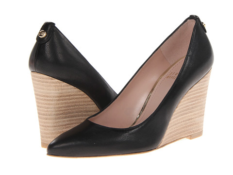 Stuart Weitzman - Logopower (Black Vecchio Nappa) Women's Wedge Shoes