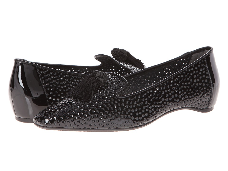 Stuart Weitzman - Perfduo (Black Patent) Women's Slip on Shoes