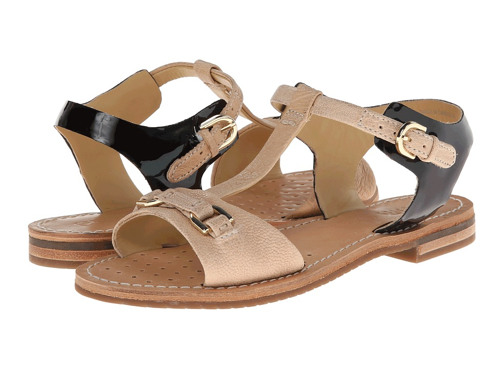 Geox - D Jolanda (Milk/Black) Women's Sandals