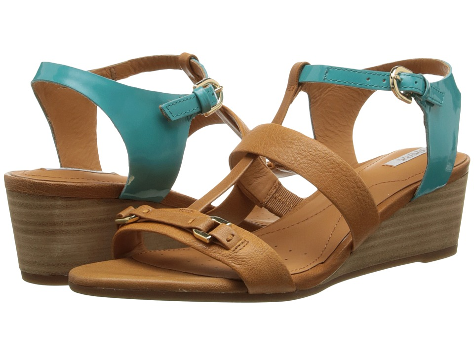 Geox - D Lupe (Light Brown/Turquoise) Women