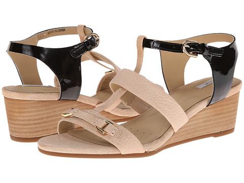 Geox - D Lupe (Milk/Black) Women's Sandals