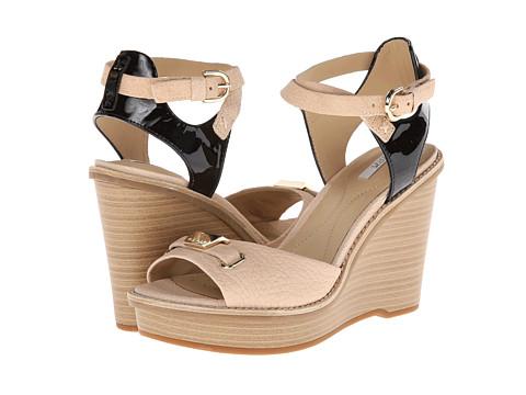 Geox - D Maranta (Milk/Black) Women's Wedge Shoes