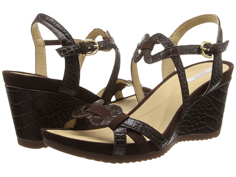 Geox - D New Rorie (Coffee) Women's Wedge Shoes